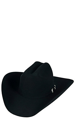 Resistol 20X Black Gold Long Oval Black Felt Cowboy Hat