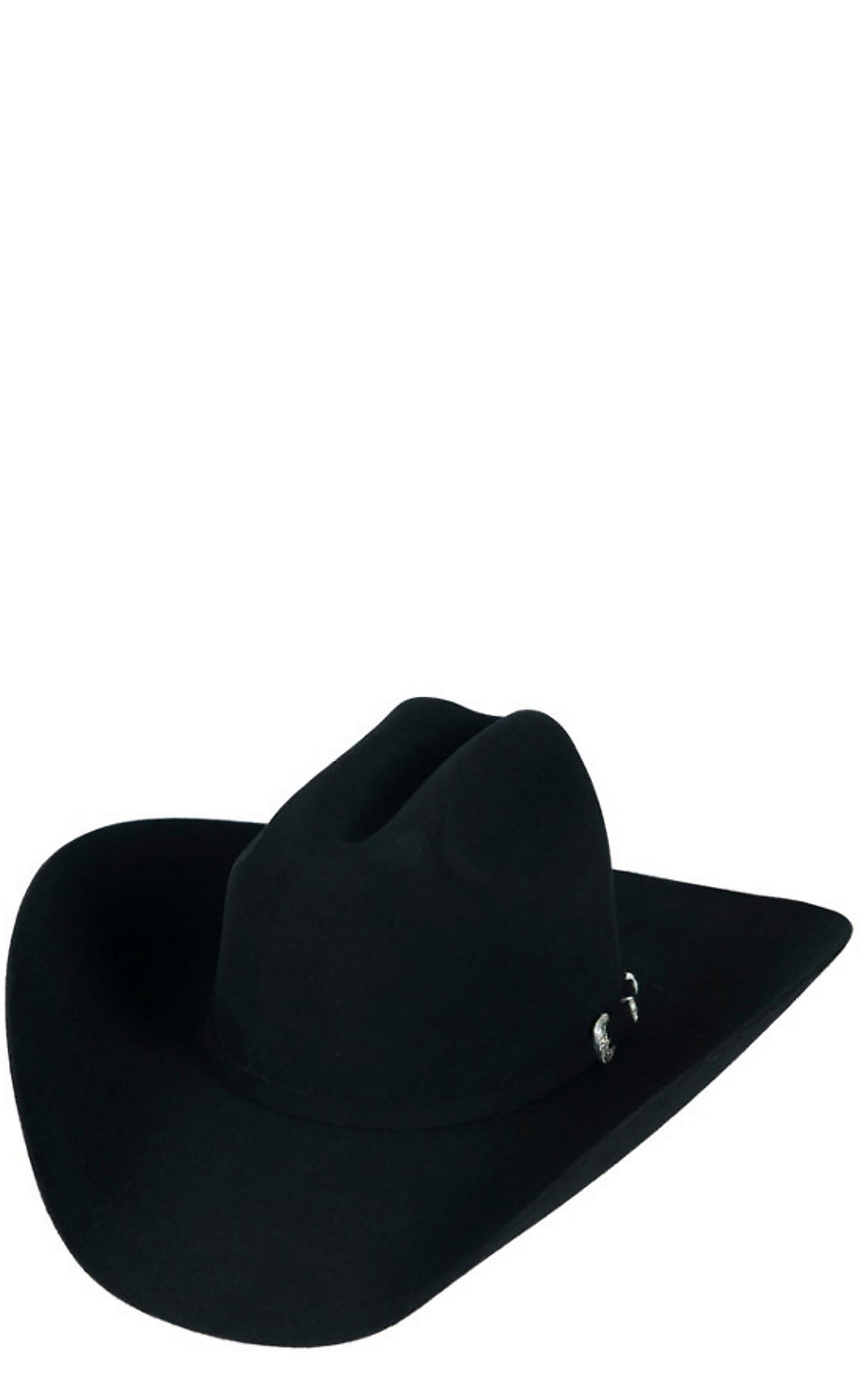 Resistol 20X Black Gold Low Crown Black Felt Cowboy Hat  98ff9aaeda6