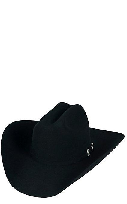 3fb4e2294 Resistol 20X Black Gold Low Crown Black Felt Cowboy Hat