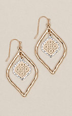 Amber's Allie Silver & Rose Gold Small Filigree Earrings
