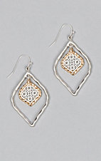 Amber's Allie Silver & Gold Small Filigree Earrings