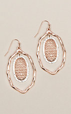 Amber's Allie Silver & Rose Gold Filigree Earrings