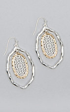 Amber's Allie Silver & Gold Filigree Earrings