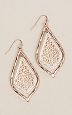 Amber's Allie Gold & Silver Filigree Earrings