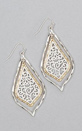 Amber's Allie Silver & Gold Filigree Earrings