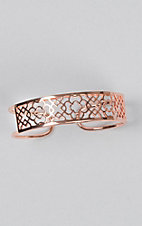 Wear N.E. Wear Rose Gold Filigree Cuff Bracelet