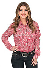Panhandle Women's Red Bandana Print Long Sleeve Western Snap Shirt