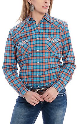 Panhandle Women's Plaid Long Sleeve Western Shirt