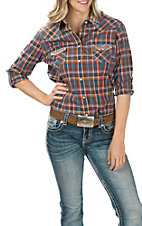 Panhandle Rough Stock Women's Plaid Long Sleeve Western Shirt