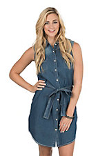 Panhandle Rough Stock Women's Chambray Shirt Dress