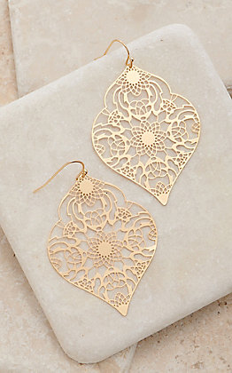 Amber's Allie Gold Filigree Earrings
