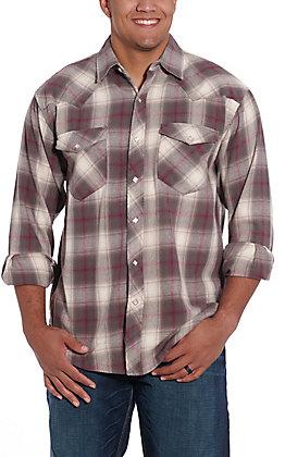 Resistol Double R Men's Brazos Ombre Plaid Flannel