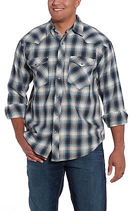 Resistol Double R Men's Ombre Marine Plaid Flannel