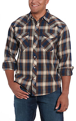 Resistol Double R Men's Bonham Blue Plaid Flannel
