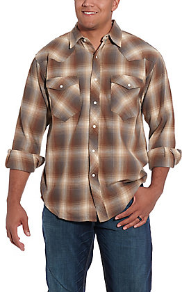 Resistol Double R Men's Richland Green Plaid Flannel