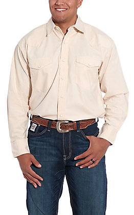 Resistol Double R Men's Solid Coffee Mill Western Snap Shirt