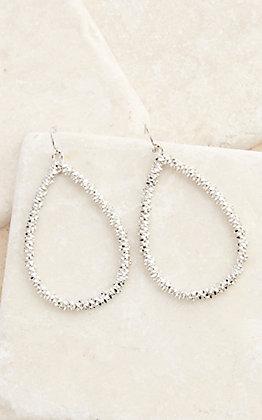 Amber's Allie Silver Teardrop Earrings