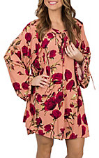 Umgee Women's Clay Floral Print Dress