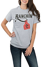Cavender's Sport Grey Ranchin' Brand S/S T-Shirt