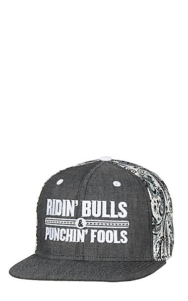 67431ff5ffc Rodeo Time Dale Brisby Denim Paisley Ridin  Bulls Snap Back Cap ...