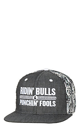Rodeo Time Dale Brisby Denim Paisley Ridin' Bulls Snap Back Cap