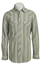 Rafter C Men's Green Dobby Stripe Western Shirt