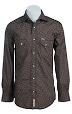 Rafter C Men's Brown and Black Paisley Print Western Shirt