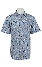 Rafter C Cowboy Collection Men's S/S Western Snap Shirt RC1521006
