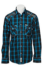 Rafter C Cowboy Collection Men's L/S Western Snap Shirt RC1531902