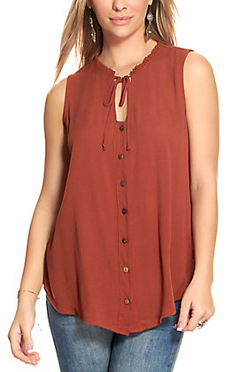 Rockin C Women's Cinnabar Sleeveless Top