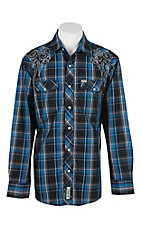 Rafter C Cowboy Collection Men's L/S Western Snap Shirt RC1622101