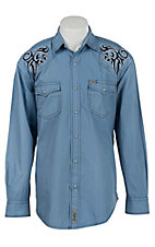 Rafter C Cowboy Collection Men's L/S Western Snap Shirt RC1632102