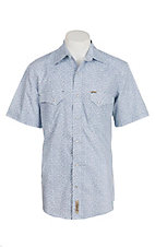Rafter C Cowboy Collection Men's White with Mini Paisley S/S Western Snap Shirt