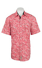 Rafter C Cowboy Collection Men's Red Bandana S/S Western Snap Shirt