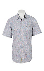 Rafter C Cowboy Collection Men's Multi Print S/S Western Snap Shirt