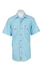 Rafter C Cowboy Collection Men's Light Sky Blue Chambray S/S Western Snap Shirt