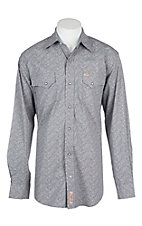 Rafter C ProFlex45 Men's Grey Washed Floral L/S Western Shirt
