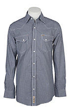 Rafter C ProFlex45 Men's Navy Gingham with Red Dots L/S western Snap Shirt