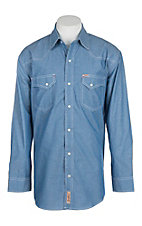Rafter C Cowboy Collection Men's Chambray L/S Western Snap Shirt