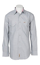Rafter C Cowboy Collection Men's Light Grey Chambray L/S Western Snap Shirt