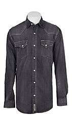 Rafter C ProFlex Stretch Men's Distress Black Long Sleeves Western Shirt