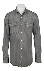 Rafter C ProFlex Stretch Men's Distress Grey Long Sleeves Western Shirt