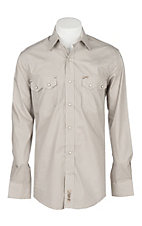 Rafter C Cowboy Collection Men's Brown Geo Print L/S Western Shirt