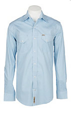 Rafter C ProFlex45 Men's Blue Mini Oval Dot Print L/S Western Snap Shirt