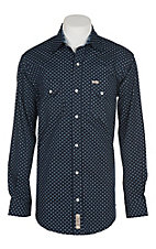 Rafter C ProFlex45 Men's Navy Mini Print L/S western Snap Shirt