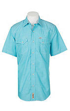Rafter C ProFlex45 Men's Turquoise Chambray S/S Western Snap Shirt