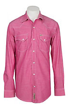 Rafter C ProFlex45 Men's Solid Dark Pink Chambray L/S Western Snap Shirt