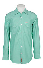 Rafter C ProFlex45 Men's Mint Green Chambray L/S Western Snap Shirt