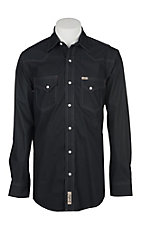 Rafter C Cowboy Collection Men's Black and Grey Diamond Print L/S Western Snap Shirt