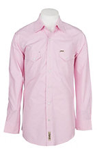 Rafter C Cowboy Collection Men's Micro Pink Gingham Print L/S Western Snap Shirt